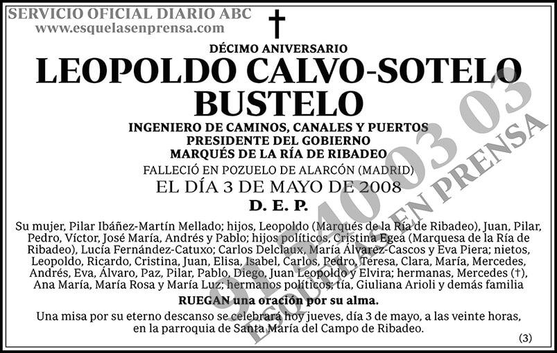 Leopoldo Calvo-Sotelo Bustelo